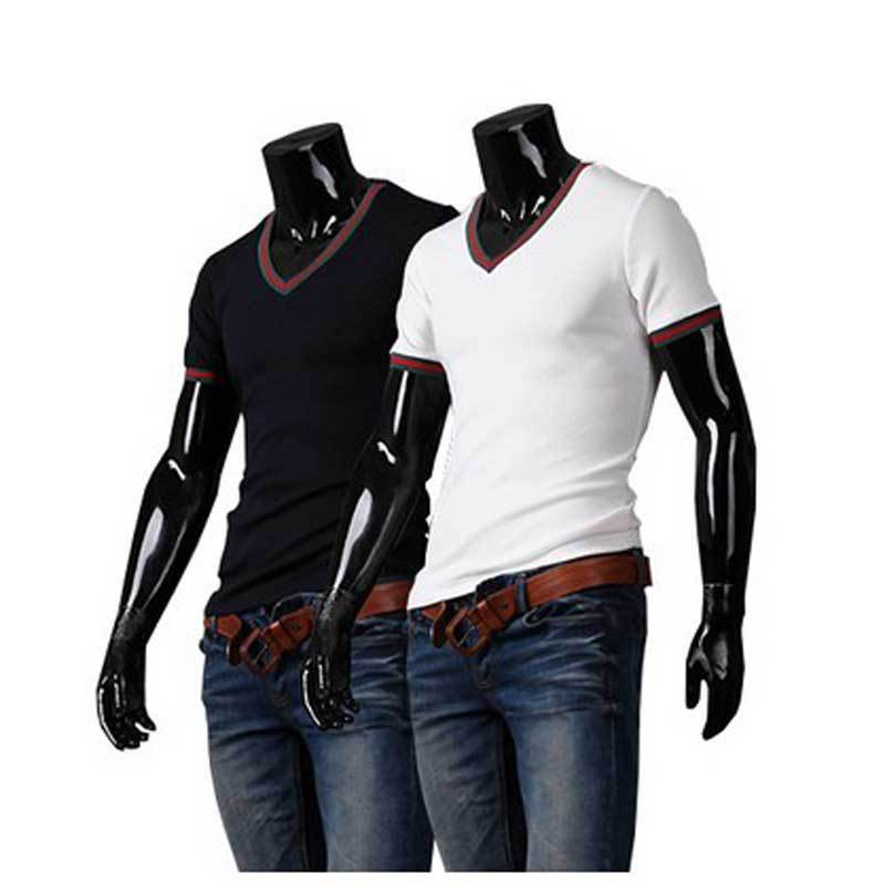 Top Design Mens T-Shirts Top Boys Short Tee Round Neck Muscle Slim Fit M L XL Free Shipping(China (Mainland))