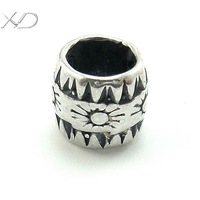 XD KM035  925 sterling silver handmade pendant spacer beads fashion vintage silver jewelry beads