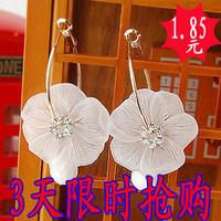Y108 accessories white scrub flower earrings drop beads Women