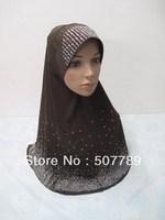 a595 with gorgeous drill muslim hijab fashion big size islamic hijab wholesale price islamic hijab free shipping