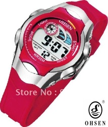 OHSEN fashion teenager back light illuminated digit sports watch.24-hour dispatch.0520.12-month guarantee. boy and girl watch(China (Mainland))