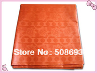 Orange color Good quality fabric  Guinea brocade for west african abaya garment 5yards/bag Jacquard Damask fabric