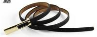Min.order $10(Mix order)Free shipping!!! 2013 skinny pigskin  fashion women's belt ( 9colors)