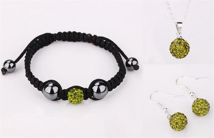 Ювелирный набор ! 10 5 /shamballa set.necklace DWD AAA-High Quality браслеты шамбала shamballa original в днеперопетровске