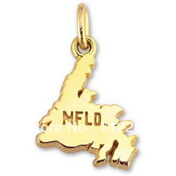 free shipping 10pcs a lot fashion 18K gold plated the map of Newfoundland charms jewelry accessory(China (Mainland))