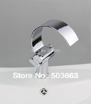 2 handle chrome deck mount bathroom faucet basin tap sink faucet vessel mixer vanity faucet L-1001
