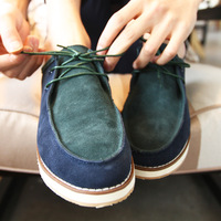 My - men's clothing 3 nubuck cowhide male low casual shoes