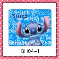 Free Shipping Stitch blue laptop mouse pad 10pcs/lot coumputer mouse mat