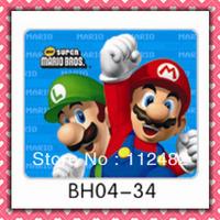 Free Shipping Super mario laptop mouse pad 10pcs/lot coumputer mouse mat