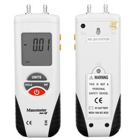 New! Large LCD Digital Manometer Air Pressure Meter Gauge