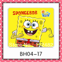 Free Shipping cute spongebob laptop mouse pad 10pcs/lot coumputer mouse mat
