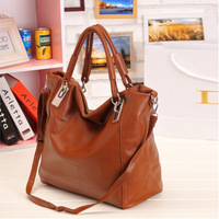 Free Shipping 2013 Women Fashion Handbag  Bag  Lady Bag Wholesale Pirce  Brown,Soft