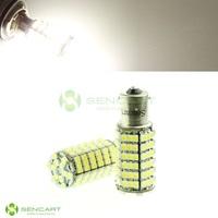 1156 BA15S 120- LED 3528 SMD 7.5W 6500K 480-Lumen White Brake Light (2pcs/lot)