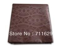 Jacquard coffee color guinea brocade=Jacquard Damask Bazin Riche for african abaya garment west africa fashion fabric