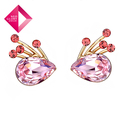 Free Shipping Neoglory MADE WITH SWAROVSKI ELEMENTS Crystal Stud Earring Auden Rhinestone Gift 14K Gold Plated Fashion Jewelry