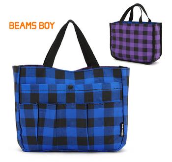 2013 new korea style student storage brand bag ,mini totes bag chambray Convertible  fashion fuctional travel bag comestic bag