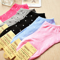 2013 Candy color cute cotton socks woman sock slippers wholesale 10pairs/lot,free shipping