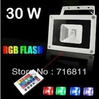 30W 16 Color RGB Flash Landscape LED Flood light Outdoor Waterproof Floodlight 85V-265V 1 Year Warranty!
