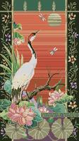 free shipping  diy unfinished Dmc cross stitch kit  chinese style animal Crane crane - as-cf-0062  Crane