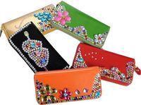 HOT SELLING fashion diamond women wallets  western hot girl beloved jade purses wallets worldwide popular pretty burse