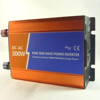 Pure sine wave inverter 12v 220v 300w car converter home emergency power supply tape usb