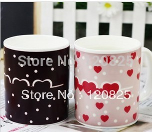 Love Color Changing Mug Cup Great Gift Ceramic Cup Drop shipping