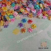 4000 Mix Color Flower Applique Sequin Wedding Favor 6mm Free Ship