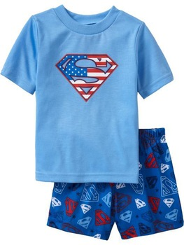 2013 Summer New Kids GP Brand Cartoon Pajamas Short Tshirt+Pant 2pcs Clothing Set Children Sleepwear Baby Wear