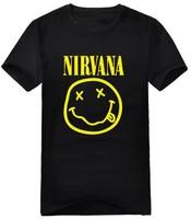 men's clothing nirvana kurt cobain short-sleeve t-shirt round neck t-shirt