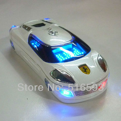 2013 New Q8 Sports car Mobile phone MP3 MP4 Bluetooth FM Camera Dual SIM Dual Standby GSM Unlocked phone(China (Mainland))