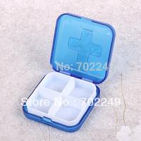 travel supplies plastic mini plaster Bandaid box with pill box  medical dispensers