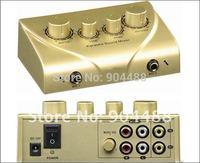 Free shipping , 2 picec/lot .HD-N2  Karaoke sound   mixer  high quality Karaoke Echo Mixer KARAOKE SOUND MIXER