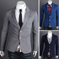Fashion new style men&#39;s  Single button suit jacket coats  business dress suits for mens  3colors free shipping 8604
