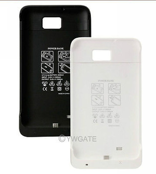 New White Black Highly Capacity 2200mAh External Backup Battery Case for Samsung Galaxy S2 i9100,Free Shipping 81258 81259