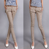 Free shipping 2013 harem pants long trousers ol women's slim casual pants pencil pants female