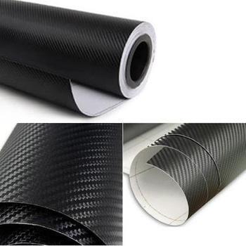 Brand New 3D DIY Car Self Adhesive Carbon Fiber Vinyl Sticker Black 1.5M x 60cm