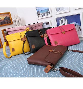 Fashion Tote Faux Leather New Button Shoulder Cross Body Messenger Bag Women Bag