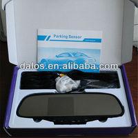 Parking sensor & Rearview Mirror,4 Parking Sensors Car Backup Reverse Radar Rearview Mirror,parking sensor system