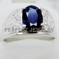 Sapphire ring Men ring Free shipping Naturl and real sapphire ring Men's ring Wholesales Fashion and fine jewelry With zircons