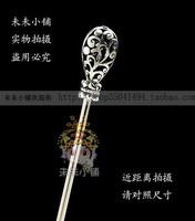 Hanfu cheongsam antique silver round drop classical hair stick 45