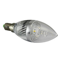3W 4W 5W E14 Warm White Energy Saving LED Candle Light Bulb Lamp Spotlight Silver 220V 110V