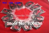 Freeshipping 10X best  50cm length long  Mini USB cable 5-PIN USB 2.0 for GPS device, mini dvr,mp3,MP4