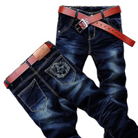 Wholesale and retail! Free Shipping! 2014 NEW Mens Fashion Designed Slim Fit casual Jeans(6262) Size W28-36