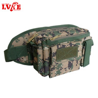 Camouflage outdoor waist pack casual canvas hiking ride 3p multifunctional shoulder bag chest pack