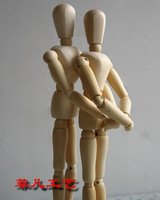 Wooden Dolls with Movable Joints Sketching Aiding Doll  wedding gift crafts decoration