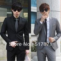 Hot-selling suit male fashion male slim suits work wear suit set