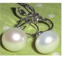 Excellent white pearl Clip-on earring