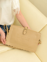 2013 spring and summer small fresh women's vintage handbag preppy style shoulder bag biscuits bag big Small messenger bag