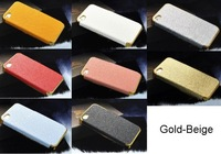 Wholesale 16 Color Choice Leather Hard Cover Case For iPhone 4 4G 4S Cell Phone Accessories FREE SHIPPING 50pcs/Lot