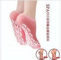 cornefree shipping spa socks,Spa moisturizing whitening gel socks, Remove ous dead skin socks,2pairs/lot